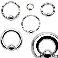 "Captive Nipple Ear Ring 14 Gauge 3/4"" Steel 6mm Ball Body Jewelry"