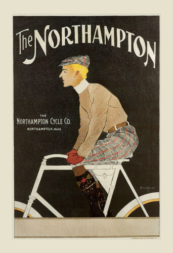 VINTAGE BICYCLE POSTER Art Nouveau Poster Belle Epoque Art Antique Bike Print Wa