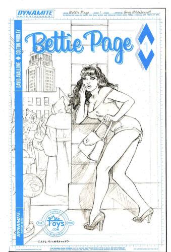 2017 Bettie Page #1 Dynamite NM//NM Hildebrandt Buy Me Toys Pencil Variant