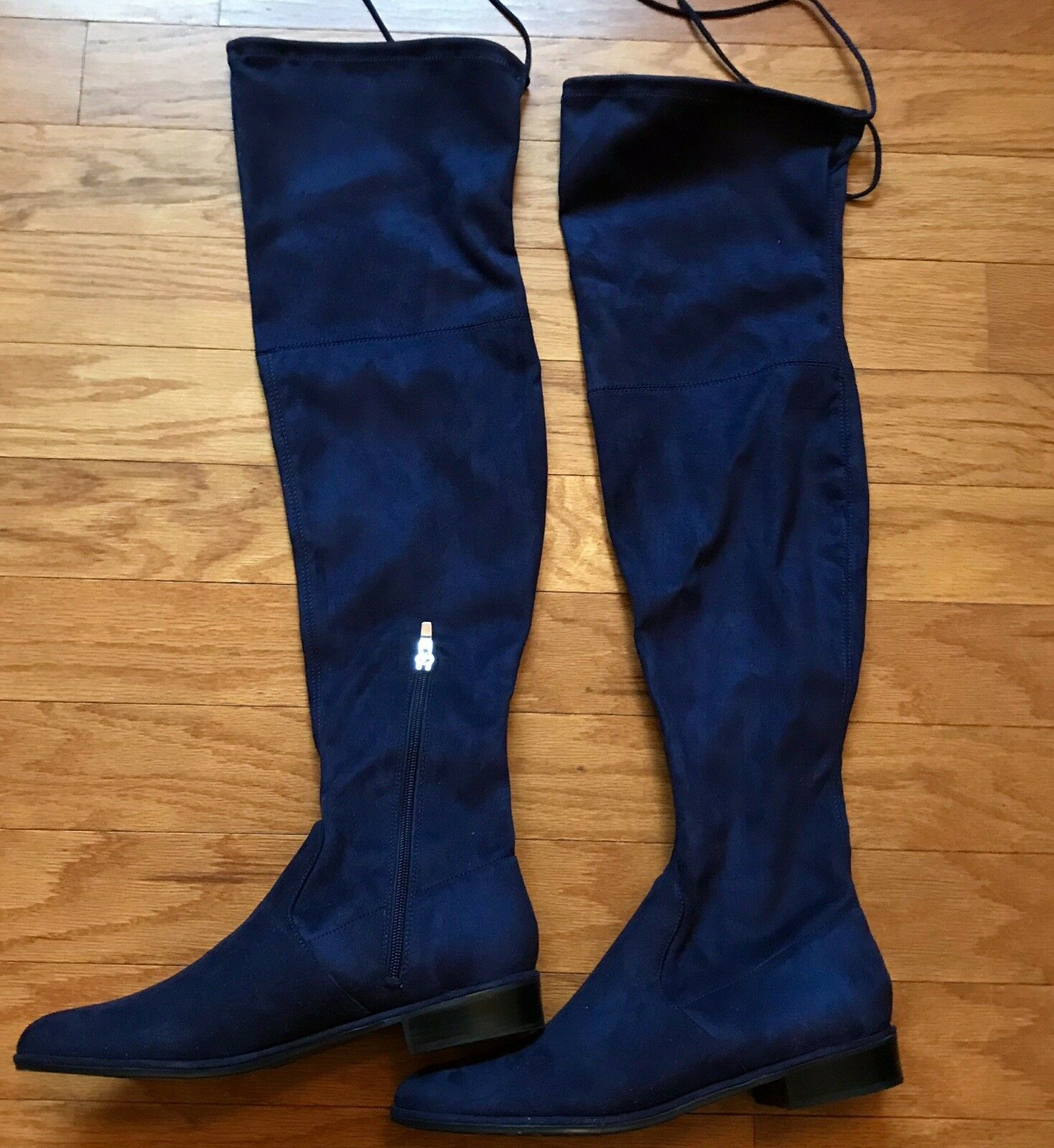 Beautiful, Marc Fisher SZ 10,  Navy blu, Faux Suede, Over The Gine stivali  outlet