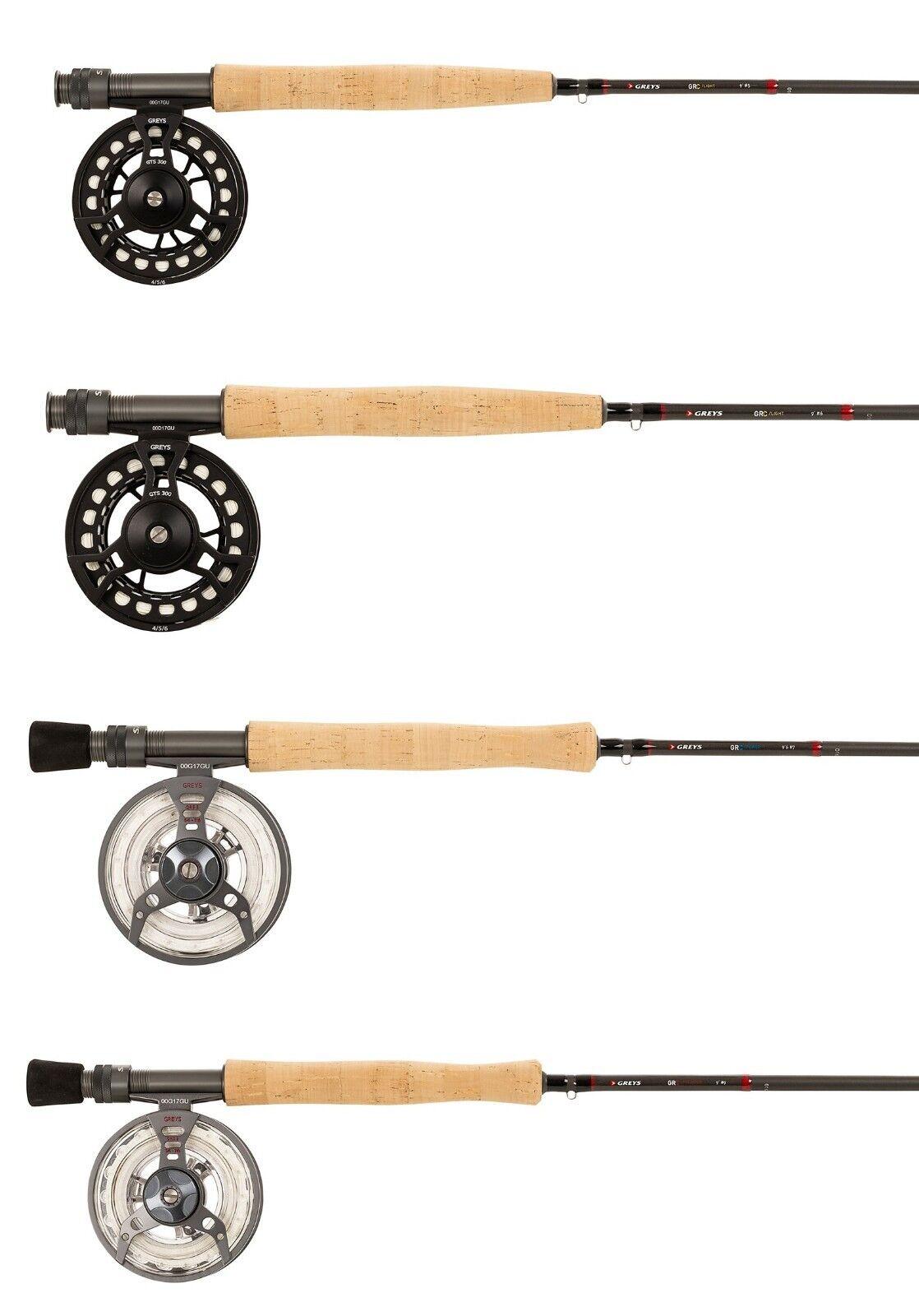 graus NEW GRC Fliegen Fishing Combo Kits Rod Reel Line Case