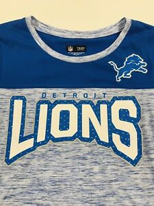 san francisco 4948e 94cd7 Details about new NFL TEAM APPAREL DETROIT LIONS Women's Large Tee Shirt  Rhinestone Jeweled
