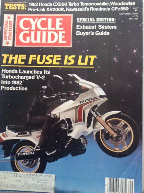 Cycle Guide Magazine Honda Launches Turbocharged V-2 September 1981 091817nonrh