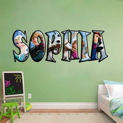PERSONALIZED Custom NAME Frozen Decal Removable WALL STICKER Disney Elsa Anna