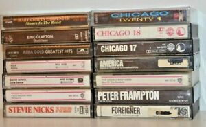 Lot-Of-14-ROCK-CLASSIC-Cassette-Tapes-Chicago-Clapton-Abba-Asia-Frampton