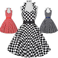 1950s 60s Swing Pin Up Retro Vintage POLKA DOTS Tea Dress Casual Cocktail Party