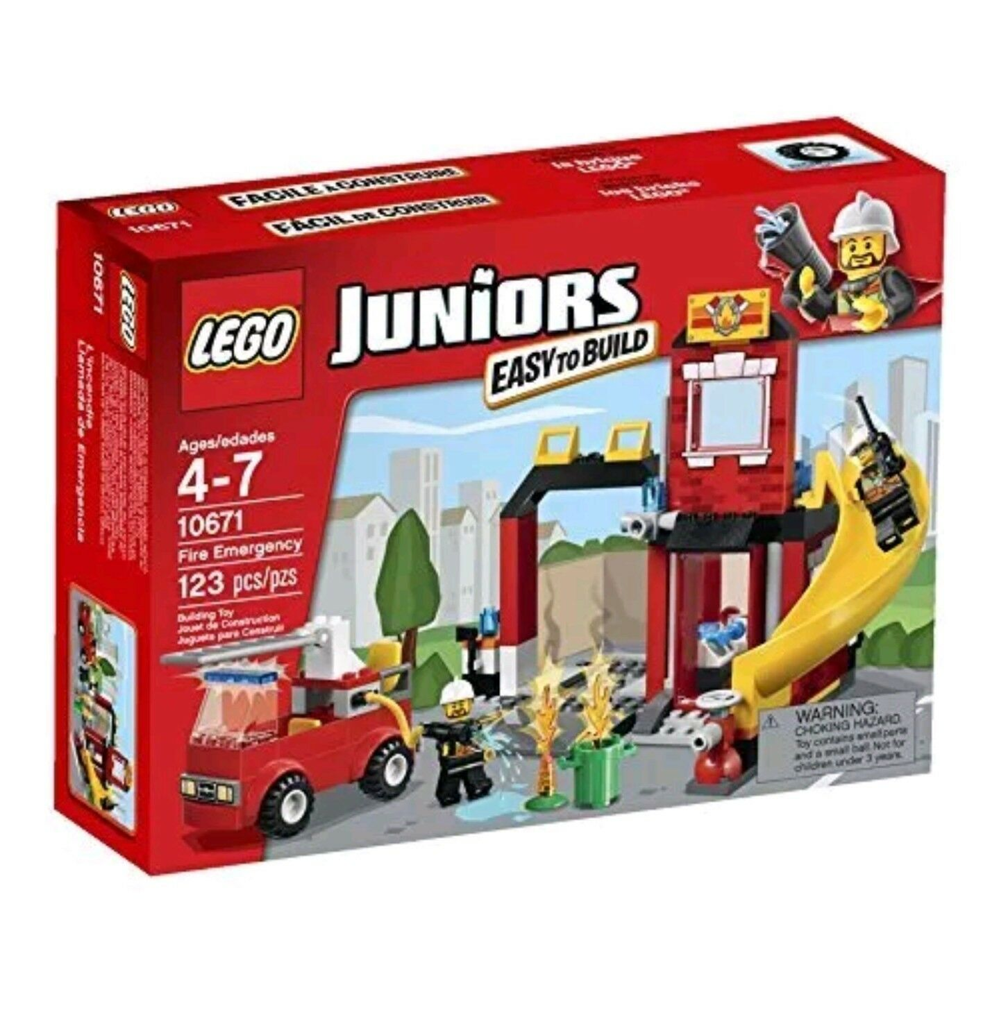 LEGO Juniors 10671 Fire Emergency - Rare - Retirosso NISB Free Shipping Great Gift