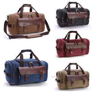 0c30181ae0 Men s Vintage Canvas Duffle Bag Gym Travel Tote Luggage Handbag ...