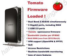 Netgear WNDR4500V2 Dual Band Wireless N900 Router Tomato VPN firmware Multi WAN