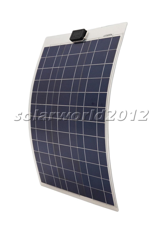50 Watt 50W 12V Poly Semi Flexible Solar-Panel für Yacht Camper Akkulade