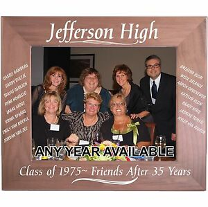 Personalized Wood Picture Frames Class Reunion Gifts Custom Party