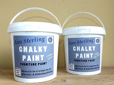 1,5 KG  Kreidefarbe SHABBY CHIC Möbelfarbe weiß & creme Möbel Farbe Vintage Lack