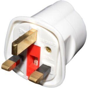 Pifco tourisme UE nous à 3 broches Royaume-Uni Power Plug vacances Adaptateur Avec Fusible 13 A