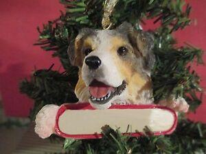 image is loading australian shepherd 53 christmas tree ornament