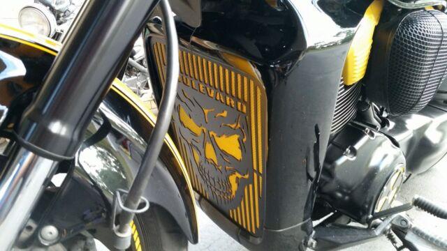 Skull Radiator Grille Guard Cover For 2006-2014 Suzuki Boulevard M109R Chrome
