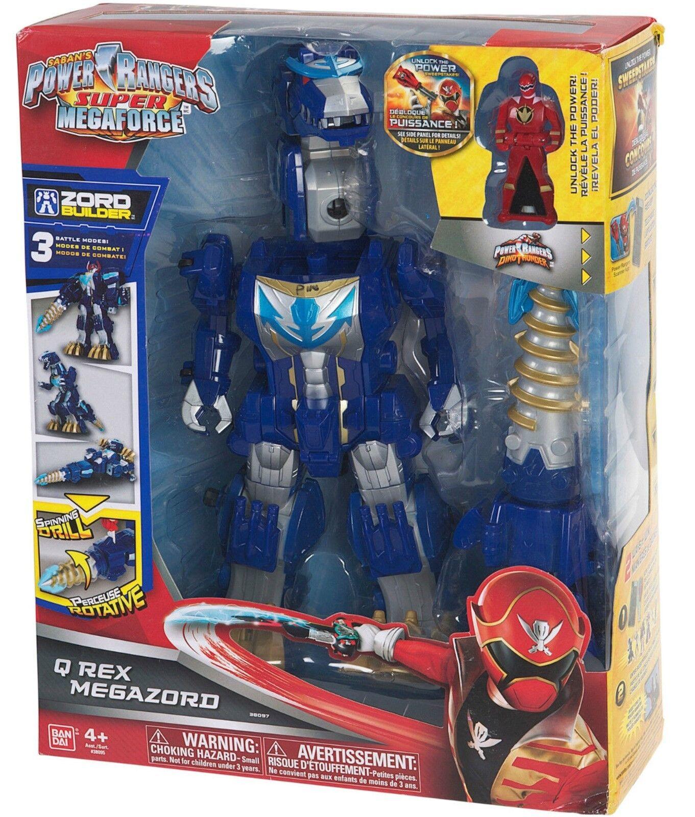 Power Rangers Super Megaforce Q Rex Megazord New Factory Sealed 2014