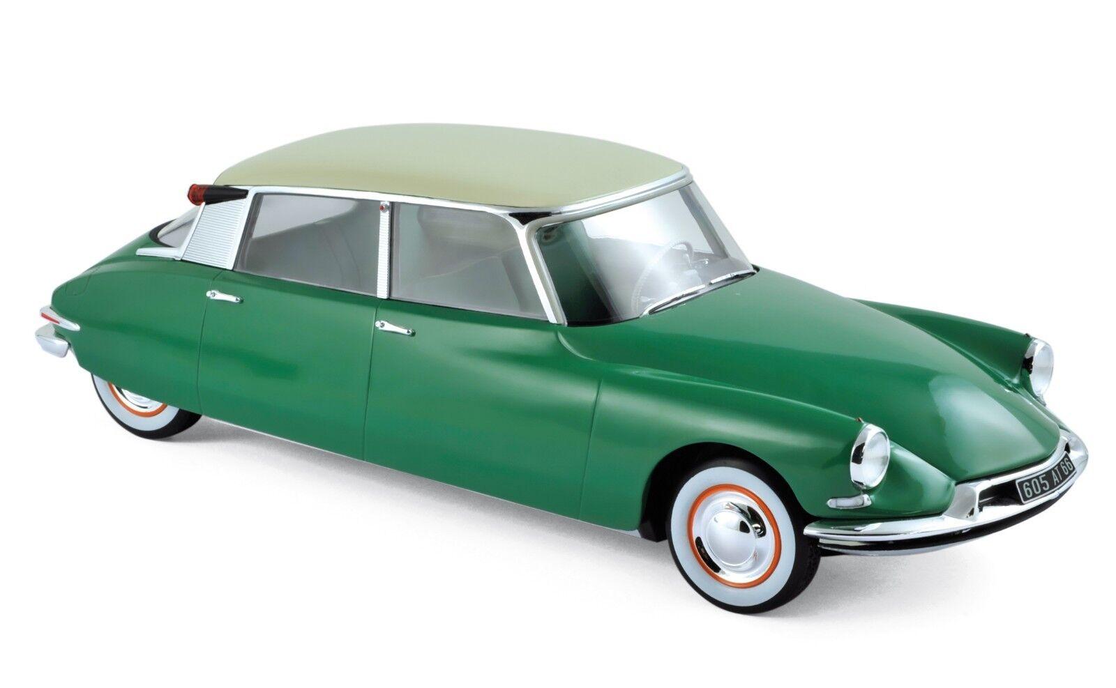 NOREV 181480 - Citroen DS 19 1956 Vert Printemps & Champagne  1 18