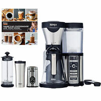 Refurbished Ninja Coffee Bar, Glass Carafe, Frother, Travel Mug & Grinder on sale