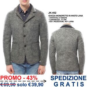 Cappotto-da-Uomo-Grigio-Monopetto-in-Misto-Lana-Avvitato-Moda-Casual-Elegante
