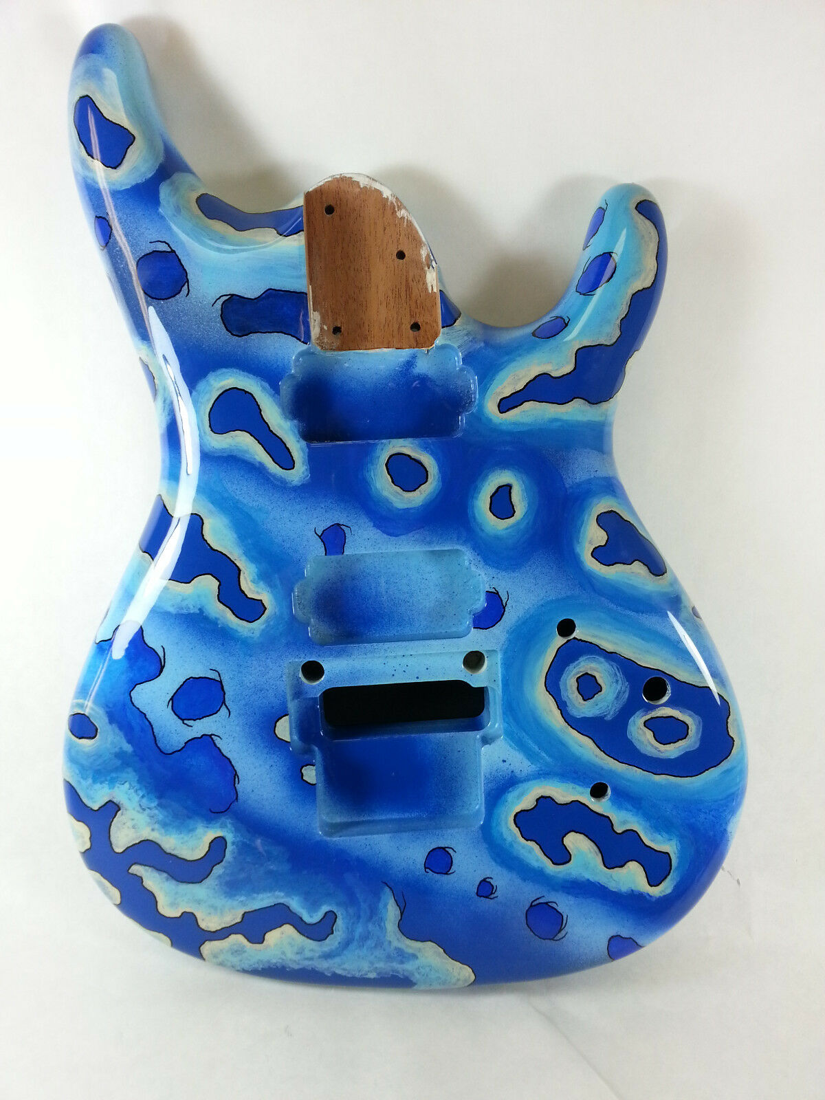 Replacement Guitar Body for Ibanez JS - HH - Custom Painted - Organic Blau