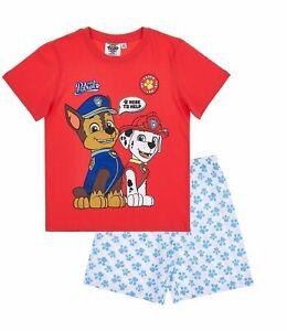 2ed07396b1e Boys Kids Official Paw Patrol Chase & Marshall Short Sleeve Summer ...