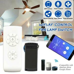 Compatible with Alexa and Google Home Assistant Small Size RF//APP Remote Control for Ceiling Fan No Hub Required Mini Size WiFi Smart Ceiling Fan Light Controller Kit