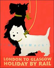 Scottish Terrier Dogs Dog Best Friend Scottie 10x16 Vintage Poster Repro FREE SH