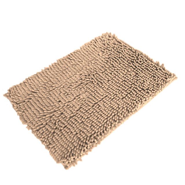 Soft Non-Slip Absorbent Bath Mat Bathroom Door Shower Rugs Carpet Mats Floor Rug