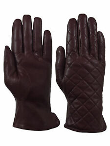 Giromy-Samoni-Womens-Warm-Winter-Leather-Quilted-Dress-Driving-Gloves-Brown