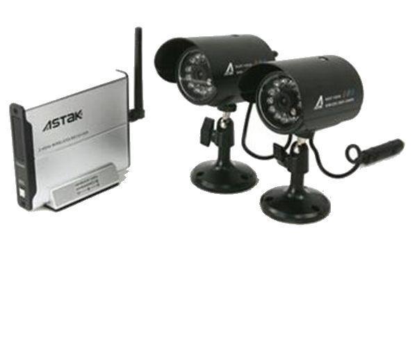 Astak CM-818C2 Wireless Security Surveillance Camera Kit Indoor/Outdoor Set of 2