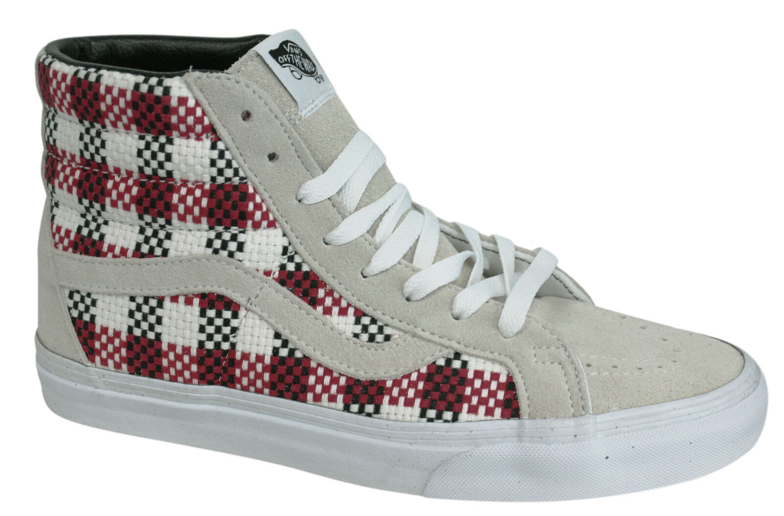 Vans Off The Wall SK8-Hi Lace Up Checker Plaid High Top Trainers 3CAFGO U119