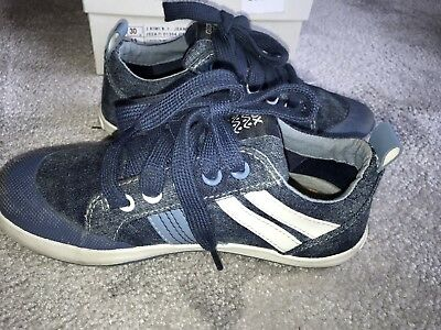Geox Halbschuhe Jr Kiwi Boy Sneakers light jeans/dark sky Turnschuhe Gr.30