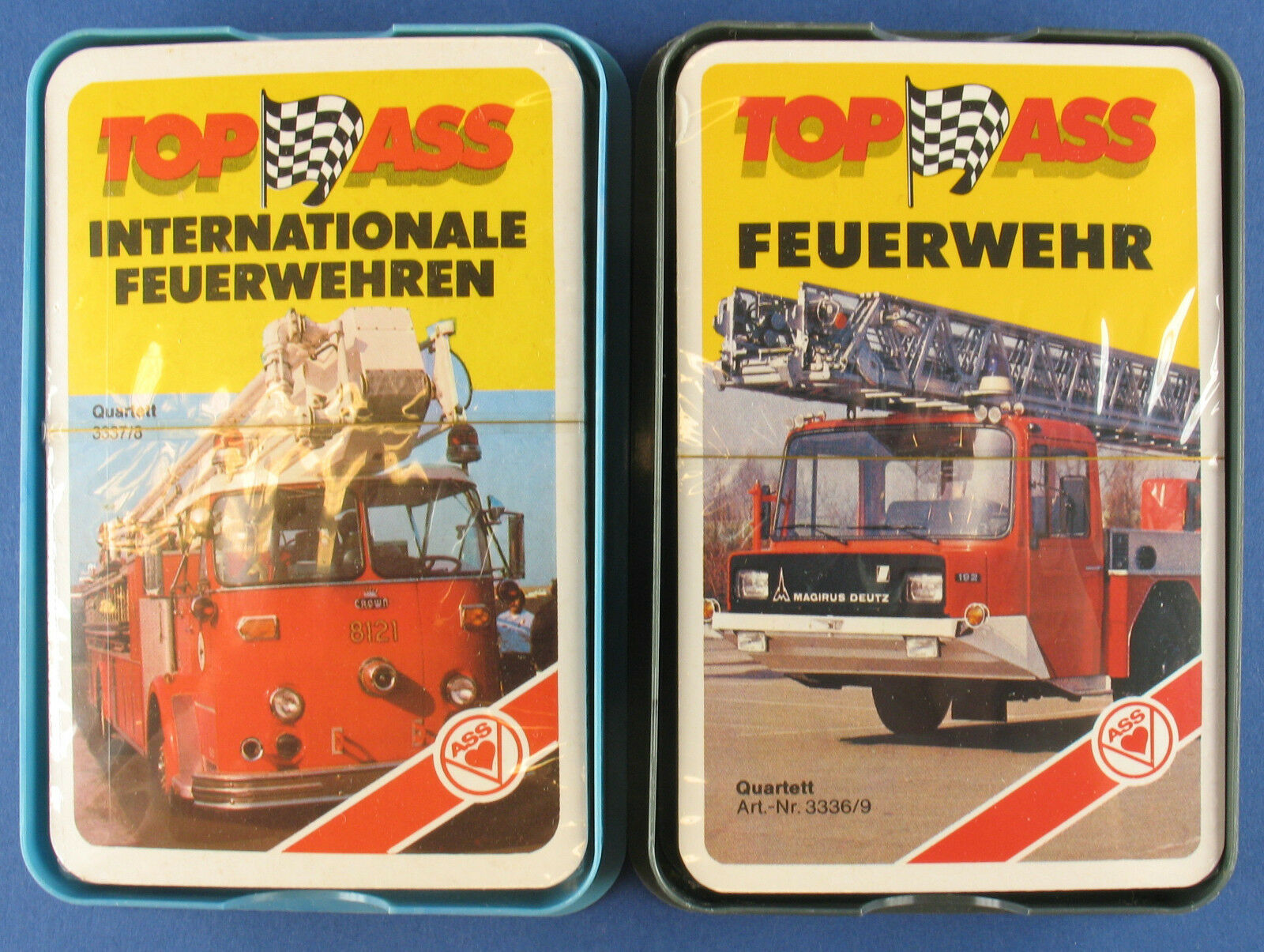2x Quartett - Internationale Feuerwehren - ASS 3337 8 + 3336 9 - NEU in Folie