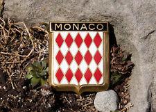 VINTAGE ENAMEL AUTOMOBILE CAR BADGE # MONACO MONTE CARLO FRANCE