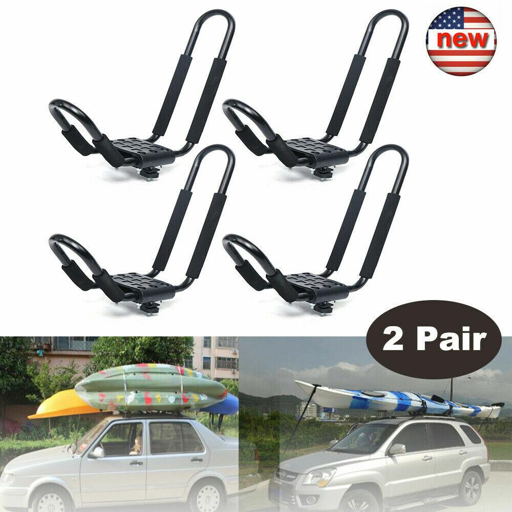 4 pcs Canoe Boat Kayak Roof Rack For Car SUV Truck Top Mount Carrier J Cross Bar