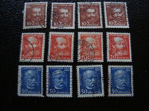 Switzerland-Stamp-Yvert-and-Tellier-N-260-A-262-x4-Obl-A14-Stamp-Switzerland