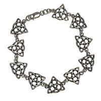 Sterling Silver Celtic Triquetra Knotwork Bracelet (6) Trinity Knot Jewelry