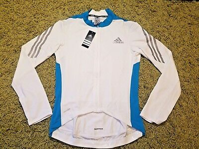 Men`s ADIDAS SUPERNOVA Cycling Jacket Jersey Shirt Full Zip Long Sleeve Size M