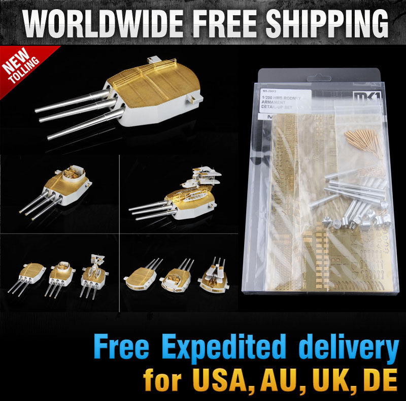 Hobby365  New 1 200 HMS RODNEY ARMAMENT Detail-Up Set for Trumpeter  MS20013