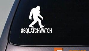 Squatchwatch-Bigfoot-Decal-Yeti-Sasquatch-camper-Sticker-hiking-camping-D688
