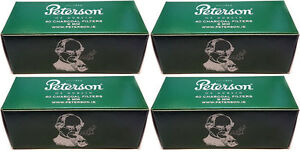 Peterson 9mm Charcoal Pipe Filters (4 x Packs of 40)