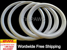 "ATLAS Front 18"" Slim Rear 15"" Wide Motorcycle WhiteWall tire insert trim set.."