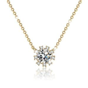 FASHION ATTITUDE 18k rose gold gp made with SWAROVSKI crystal pendant necklace