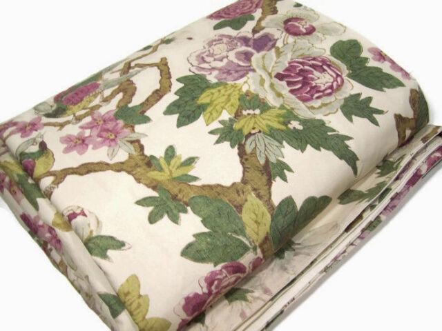 Pottery Barn Multi Colors Kamala Bird Floral Bloom King Cal King Duvet Cover New