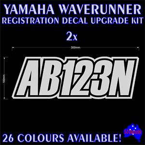 stickers 2 Yamaha Waverunner decals