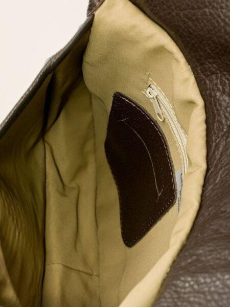 Ital Design Crossbody Messenger Bag Giacconi Spalla Borsa Vera Pelle Arancio 56