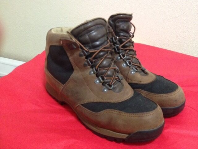 VINTAGE DANNER GEMINI LEATHER & GORETEX BACKPACKING HIKING Stiefel 13D MADE USA