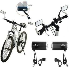 2x Bike Handlebar Rearview Bicycle Cycling Safety Rear View Mirror Left Right