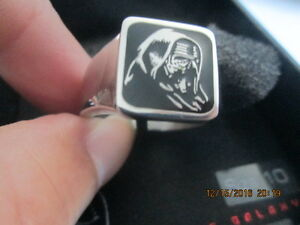 Men-039-s-Star-Wars-Stainless-Steel-Lead-Villian-Ring-size-10-New-in-Box