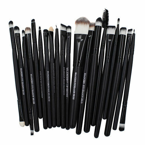 20 Pcs Makeup Set Powder Foundation Eyeshadow Eyeliner Lip Cosmetic Brushes FL